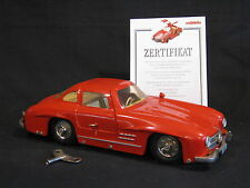 Märklin Mercedes-Benz 300 SL 1:16 Red Tinplate Racer (JS)