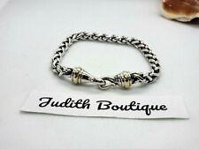 David Yurman 925 Sterling 14k Gold Wheat Chain Bracelet