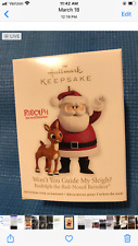 Rudolph the red nosed reindeer and santa halmark ornament