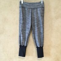 Womens Kyodan Size Small Crop Leggings Black Yoga Athletic