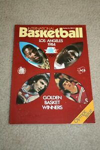Rare 1984 INTERNATIONAL BASKETBALL Magazine * MICHAEL JORDAN * AKEEM OLAJUWON