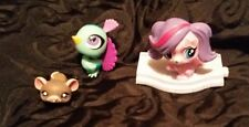 Lot of 3 Littlest Pet Shop Animals, Blue Bird, Mouse, and Dog from McD's