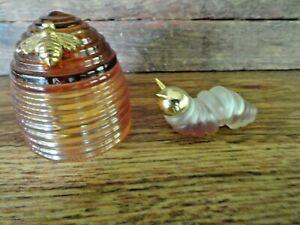 2 Vintage Avon Bottles~ Small Wonder CATERPILLAR & HONEY BEE Moonwind Cologne