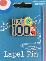 OFFICIAL RAF ROYAL AIR FORCE 100TH ANNIVERSARY 1918-2018 PIN BADGE WW1 WW2 GIFT