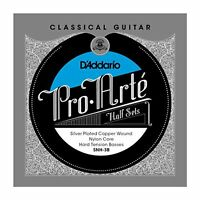 D'Addario Silver Copper Nylon Core Classical Guitar Half Set, Hard Tension