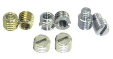 "8 Assorted 1/4"" to 3/8"" Tripod Bushings / Adapters Stainless Steel / Brass NEW"