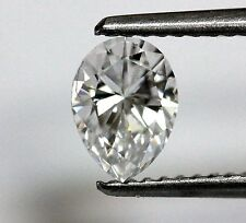 EGL certified loose pear diamond .64ct SI3 D 6.85x5.01x3.18mm vintage estate
