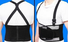 XXL Back Support Belt Straps Work Office Weight Lifting Brace Gym Adjustable Gym