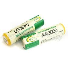 2 pcs AA LR06 3000mAh 1.2V NI-MH rechargeable battery CELL/RC 2A BTY Green
