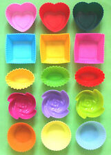 5 Various shape of baking silicone muffin cup cake & jelly mold 15pcs/set