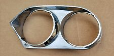 1976 1991 Jaguar XJS V12 Left Driver Headlight Surround Chrome Trim Bezel