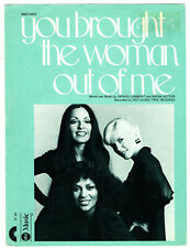 Hot You Brought The Woman Out Of Me 1975 sheet music Soul/Motown Pop