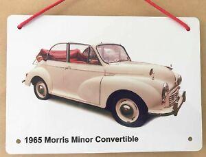 Morris Minor Convertible 1965 (Cream) - A5 Aluminium Plaque - Car Souvenir Gift