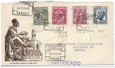 MARRUECOS ESPAÑOL. TANGER.Sobre circulado por correo certificado