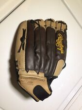 """Rawlings PM25RBR Baseball Glove Mitt Brown Leather 12.5"""" Playmaker Series  Youth"""