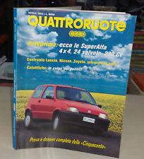 QUATTRORUOTE Aprile 1992 Rover 420 Subaru M80 Citroen ZX d Confronto integrali