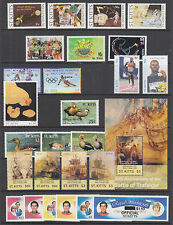 St. Kitts Sc 469//O28 MNH. 1999-2005 issues, 8 complete sets, VF
