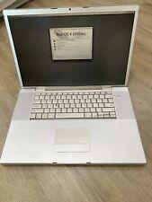 "MacBook Pro (model A1212): 17"", 2.33 GHz Intel Core 2 Duo, 4 GB RAM, 160 HDD"