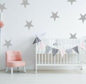 Large Giant Star Wall Stickers | Nursery Decal Adhesive Vinyl Kids Big Stars