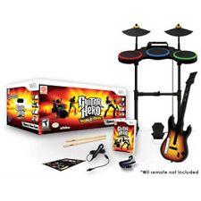 NEW Nintendo Wii/Wii-U Guitar Hero WORLD TOUR BAND KIT Bundle Set drums mic game