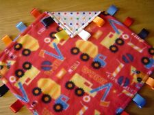 Construction Vehicle Fleece and Polka Taggy/Comforter, Large 40cm