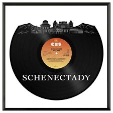 Schenectady New York Vinyl Wall Art Cityscape Exclusive Home Decoration Framed