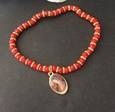 2-Red Guadalupe Maria Bracelet Evil Eye Protection Pulcera Mal Ojo Virgen