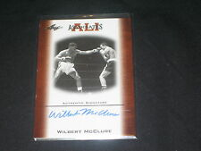 WILBERT MCCLURE 2010 FLEER CERTIFIED SIGNED AUTOGRAPH MUHAMMAD ALI CARD #AAU-4