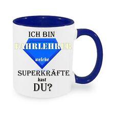 Ich bin Fahrlehrer Superkräfte - Kaffeetasse mit Motiv, bedruckte Tasse
