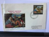 New Zealand 1983 Seasons Greetings  souvenir stamps cover Ref R25943