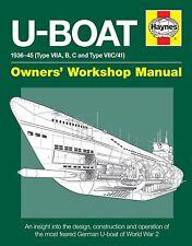 U-Boat haynes manuel H5404 GUERRE MONDIALE 2 ALLEMAGNE TYPE VIIC U-Boat NEUF