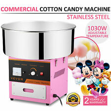 Electric Commercial Cotton Candy Machine / Floss Maker Pink 1030W High Quality