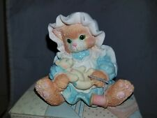 "New Nib Nos 1994 Enesco Calico Kittens ""You Make It All Better"" Sewing 102202"