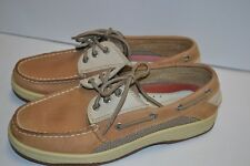 Sperry 0799320 Top Sider Mens LEATHER Billfish Boat Shoe 3-Eye BIEGE Tan 8 W NEW