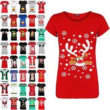 Womens Ladies Xmas Festive Novelty Tee Top Christmas Pudding Funny Boobs T Shirt