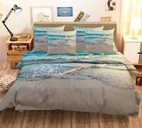 3D Beach Sand Sea Waves Ocean KEP2471 Bed Pillowcases Quilt Duvet Cover Kay