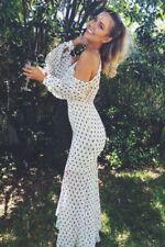 Regular Size Polyester Polka Dot Dresses for Women