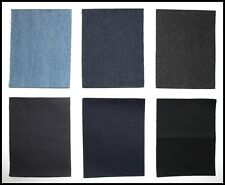 NORTEXX COTTON AND DENIM MENDING REPAIR IRON ON PATCHES - 6 COLOURS - FREE POST