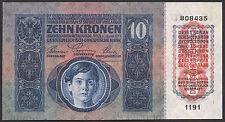 Autriche/Austria 10 Couronnes 1915 (1919) Pick 51 (1)