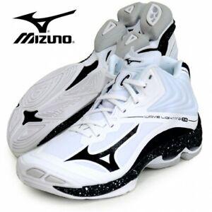 MIZUNO Volleyball Shoes WAVE LIGHTNING Z6 MID V1GA2005 White x Black