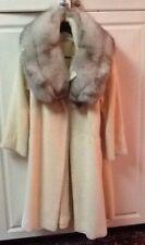 VTG SWING COAT / Mohair & Fox Fur Lilli Ann Swing Coat / Vintage 40s 50s 60s