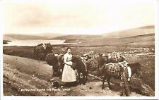 More details for unst, shetland. bringing home the peats.