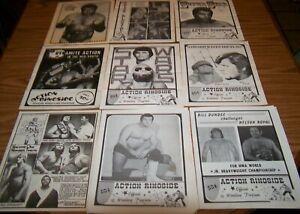 9 Vintage Wrestling Programs Harley Race Cowboy Lang Little Tokyo & More