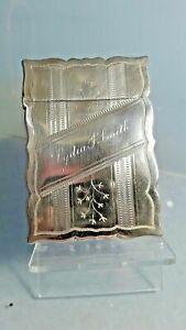 Art deco 1926 American silver card case  Dragon hallmark Whiting Co of New York