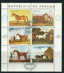 Panama Sc # 494a-f Famous Race Horses Canceled on First day Of issue.