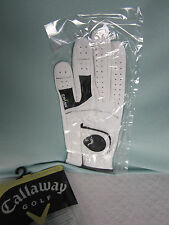Callaway Womens Golf Glove Left Large White Cabretta Leather Tour Authentic New