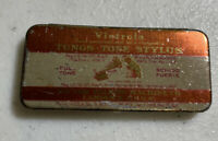 Phonograph Victrola Victor Talking Machine Tungs Tone Stylus Needle Tin FullTone