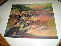 """stampa 31 x 26 """"DAUA PARMA"""" illustratore C. TAFURI - originale 1938/39 XVI° AOI"""
