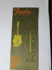 Fender July 1968 Price List Case Candy Brochure Catalog Stratocaster Jaguar