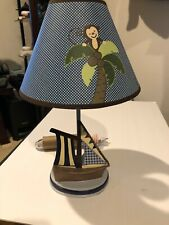NoJo Ahoy Mate Lamp and Shade Sailboat and Monkey